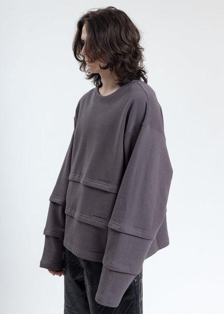 LUKEWARMPEOPLE Triple Layer Sweatshirt -Grey
