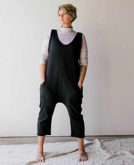 MEGAN ILENE Reverse Jumpsuit - Black