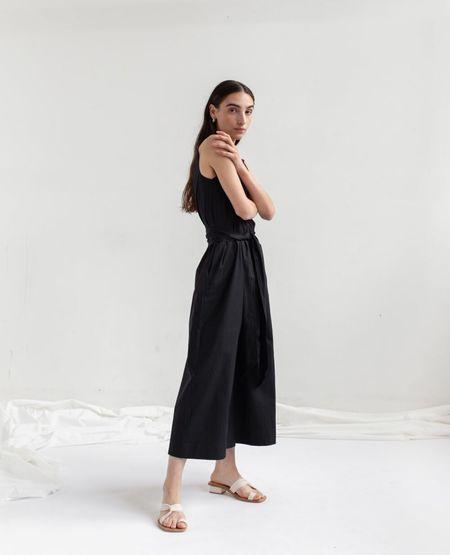 OPEN AIR MUSEUM Tie Jumpsuit - Black