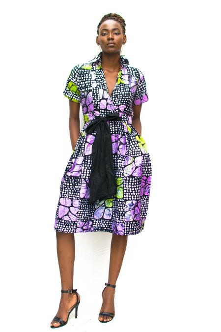 Busayo NYC Biola Adire Dress