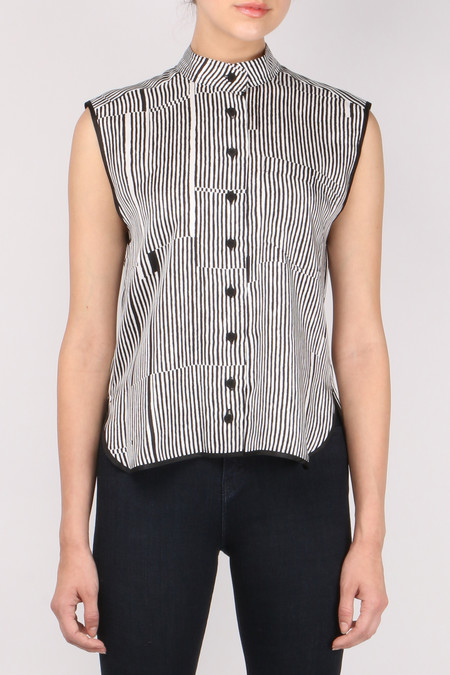 Carven Short Twill Printed Shirt