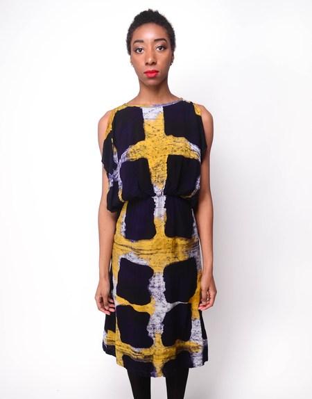 Busayo NYC Fola Dress - Purple/Yellow
