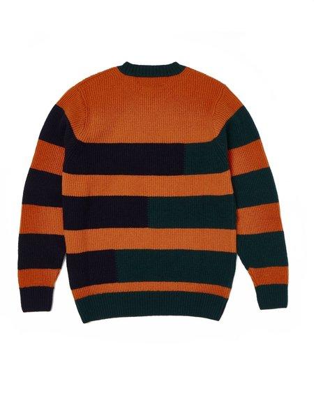 Country of Origin Stepped Crew sweater - Orange