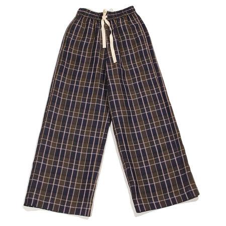 Nicholson & Nicholson Heaven Plaid Linen Pants - Navy/Khaki