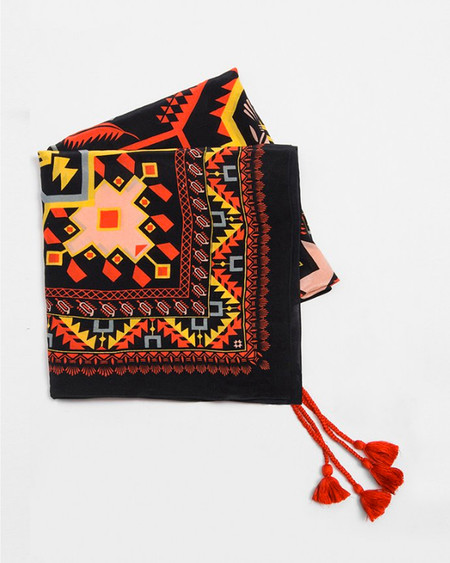 A Peace Treaty Arash Silk Scarf in Black