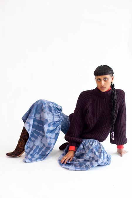Abacaxi Smocked Pants - Tie Dye Chambray