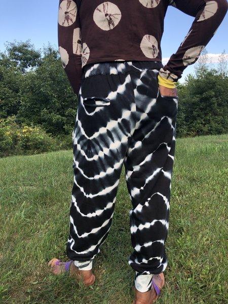 Abacaxi Tie Dye Jogger Pants - Zebra