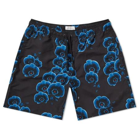 Saturdays NYC Timothy Orchid Swim Short - Black