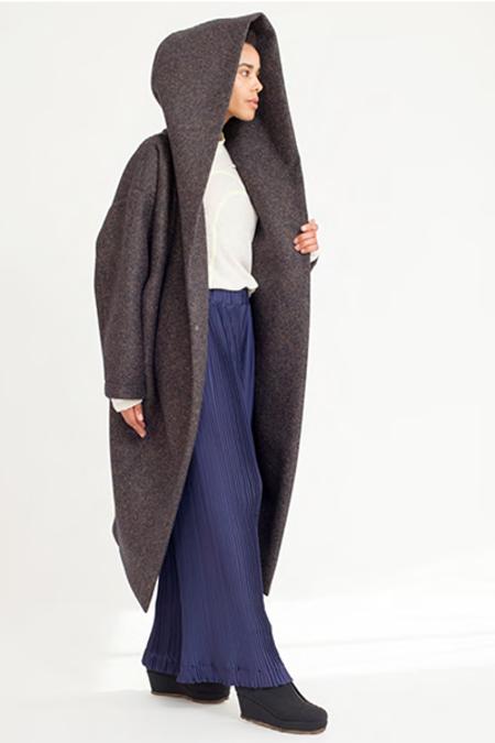 Reality Studio Big Xiong Coat w Hood - Navy Melange