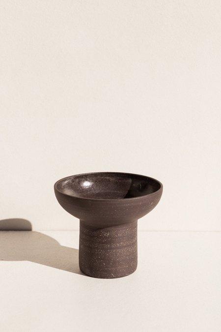 Asobimasu Clay Flared Vessel - Black