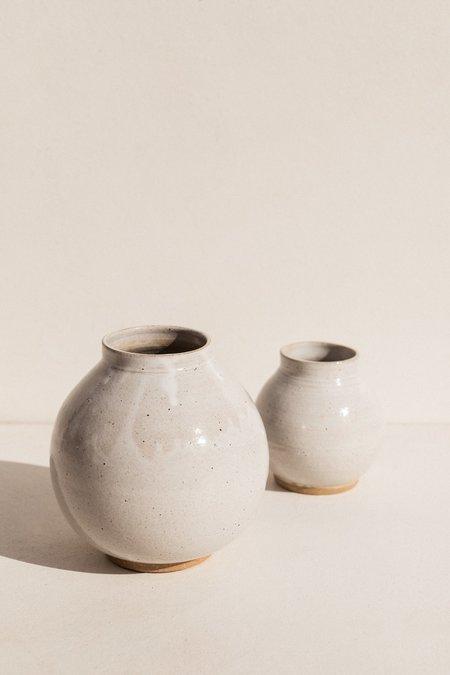 Asobimasu Clay Large Moon Jar - Ivory