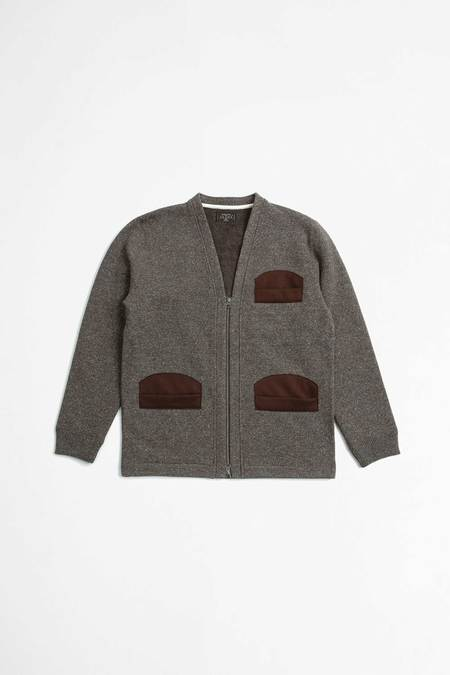 Beams Plus Hunting cardigan - jazz brown