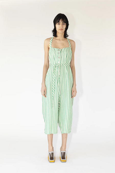 Anntian Ravy Overall - Striped Green