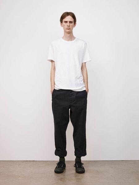 Margaret Howell cotton linen jersey Basic t-shirt - white