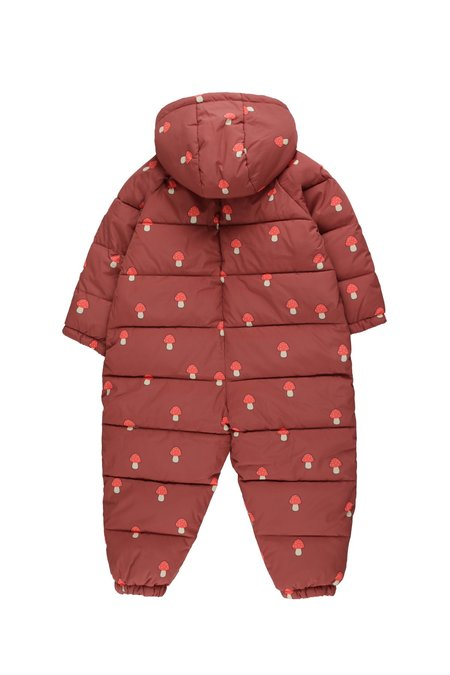Kids Tinycottons Mushrooms Padded Onepiece