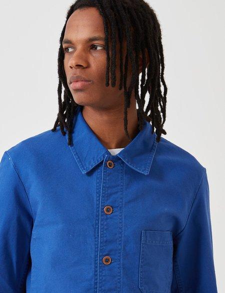 Vetra French Workwear Dungaree Wash Twill Short  Jacket - Bugatti Blue