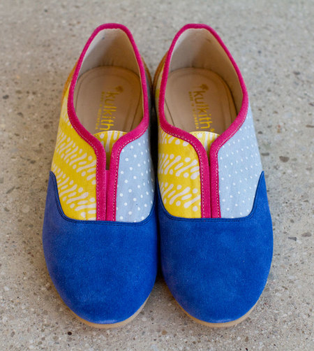Kulkith E Slip Ons - Royal Blue/Yellow