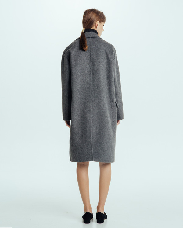 Achro Handmade Long Coat in Grey