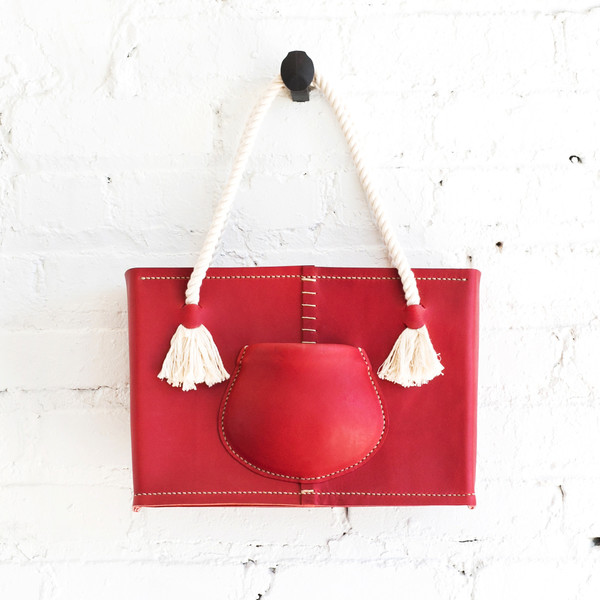 Eatable of Many Orders Pocket Tote Bag Red - SOLD OUT