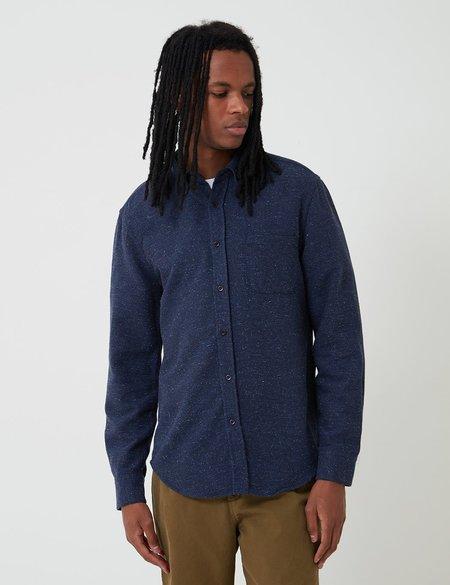 Portuguese Flannel Rude Shirt - Navy Blue