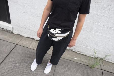 Primecut Cow Bum Bag - black/white