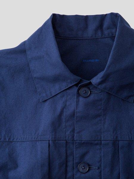 S H SH-LVND-001 Trucker Shirt - Navy