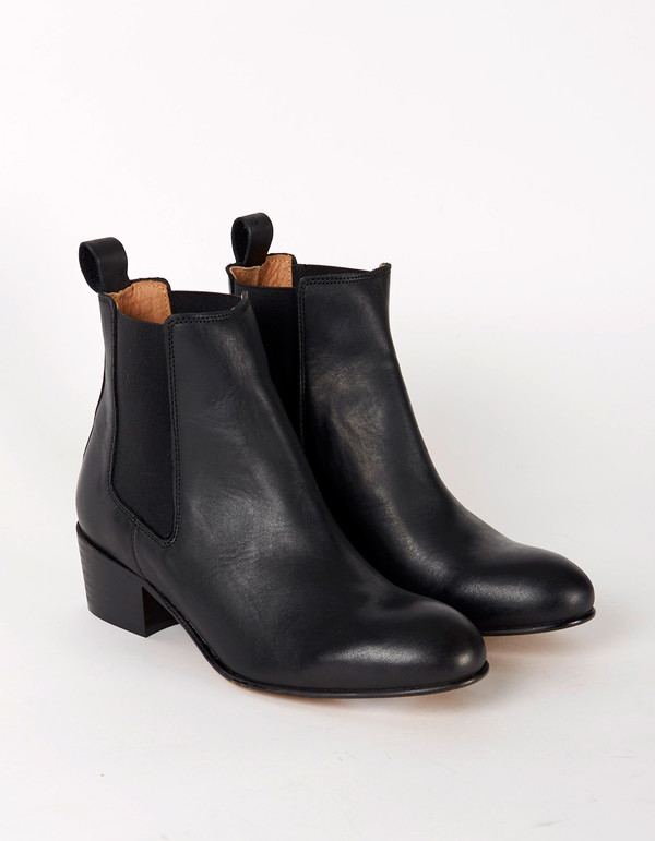Selected Femme London Leather Boot Black