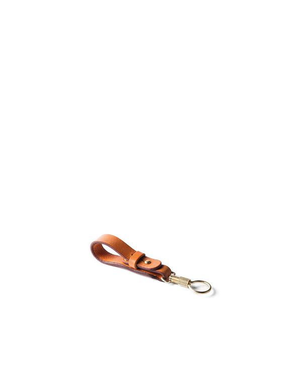 Tanner Goods Key Ring Lanyard Saddle Tan