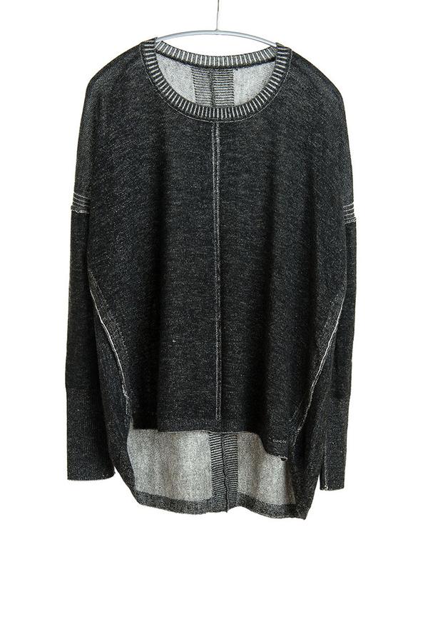 Paychi Guh Cashmere Two Tone Sweatshirt Black/Ivory