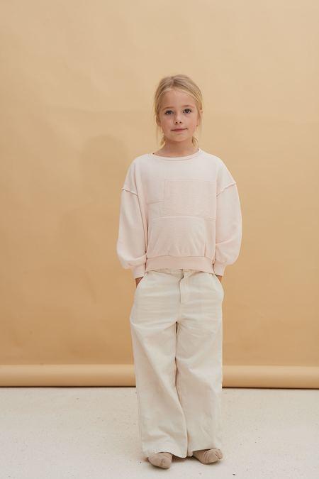Kids Long Live the Queen Patchwork Sweatshirt - Cream