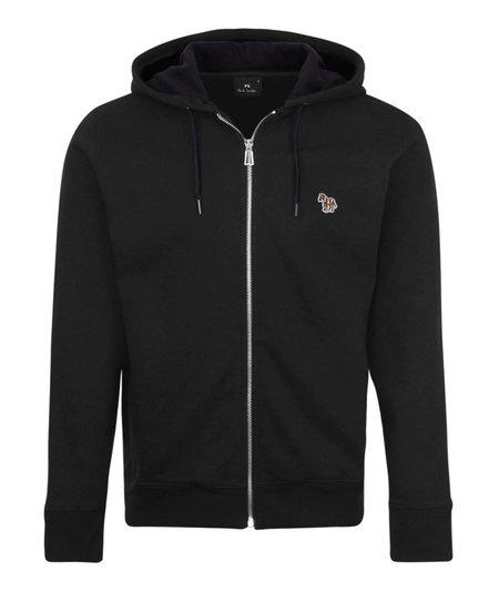 PS Paul Smith Regular Fit Zip Hoodie - Black