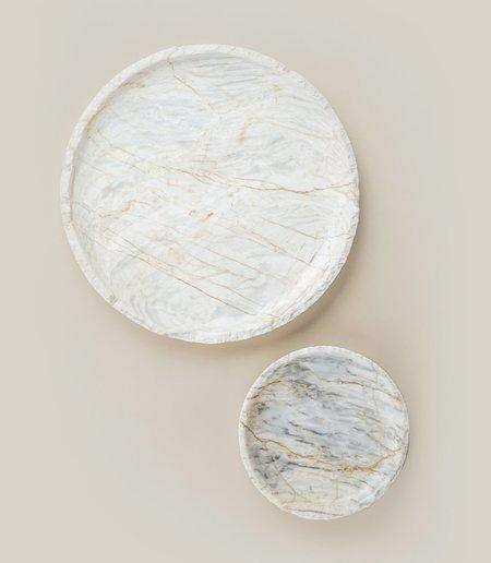 La Roca ROMBLON ROUND TRAY - WHITE