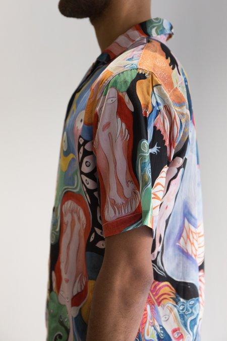 Endless Joy Crepe Silk Bacchanal Aloha Shirt