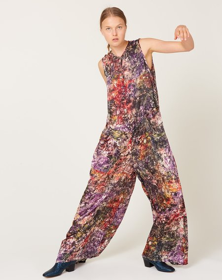 Raquel Allegra Playsuit - Plum Gara Flower