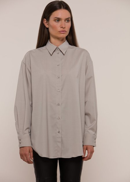 House of Dagmar Gina Shirt Good Choice Wool - Grey