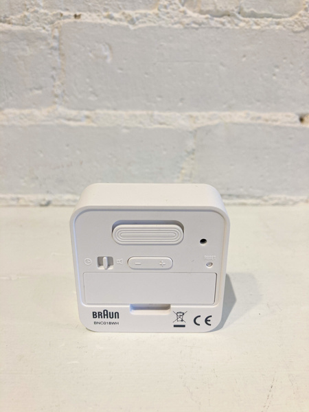Braun Travel Digital Alarm Clock - White