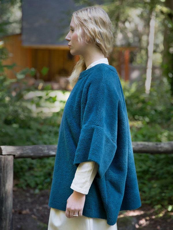 Carleen BIG SHIRT in Pine Fleece