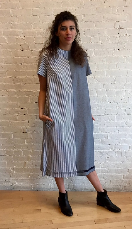 Collection PRIVEE? Two Tone Shirt Dress