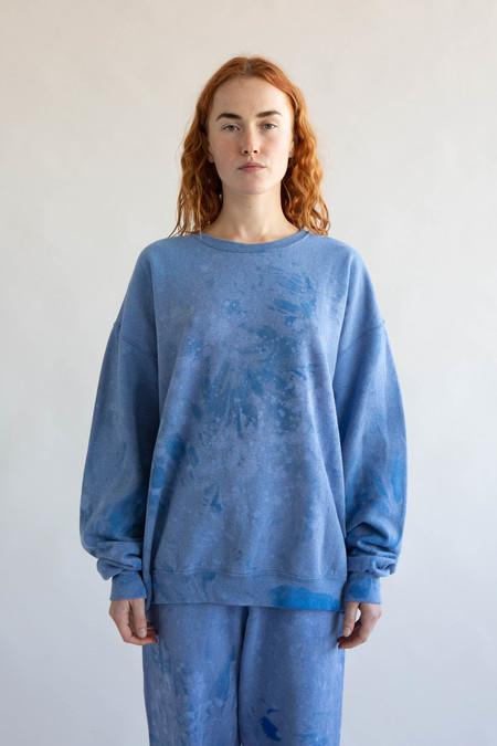 WOLF & GYPSY VINTAGE Tie Dye Sweatshirt - Sky Blue