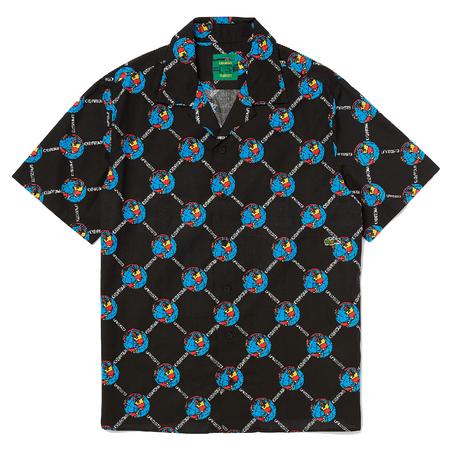 Lacoste X Chinatown Market S/S Shirt - BLACK/MULTICOLOR