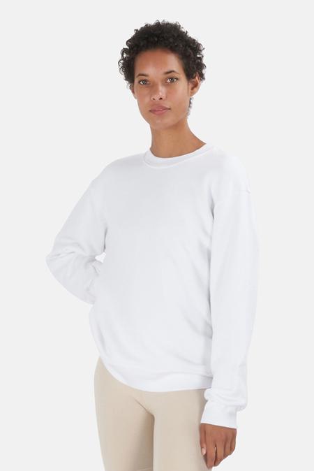 Cotton Citizen Brooklyn Oversized Crew Sweatshirt Sweater - White