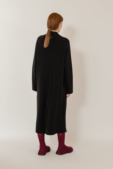 Bette Knitted Luxurious Cashmere Coat - Black