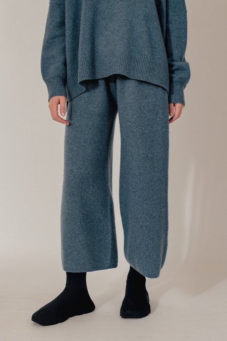 Oyuna Lara Knitted Wool Blend Cropped Trousers - Dove Fluff