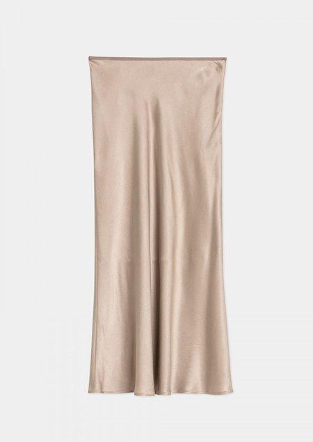 House of Dagmar Jill silk skirt - sand