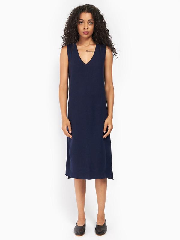 Ali Golden Knit V-Neck Dress