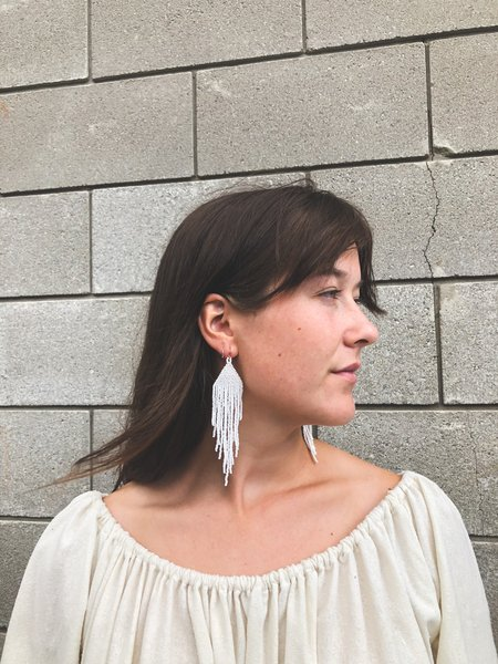 Salihah Moore Earrings - 14kt gold fill/White