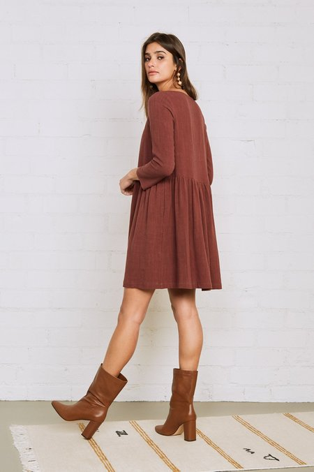 Rachel Pally Linen Ruthie Dress - Brick