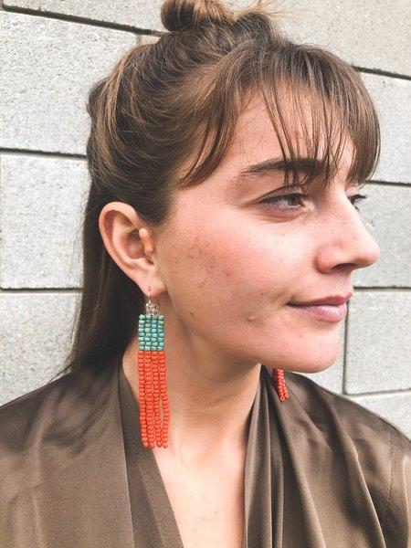 Salihah Moore Georgia Earrings - Turquoise/Terra Cotta