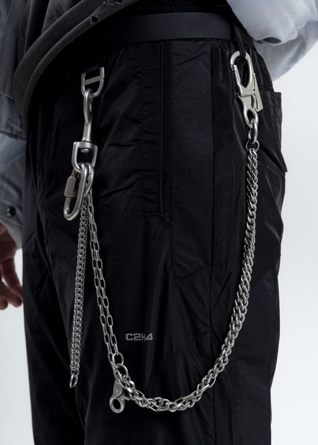 C2H4 Multi Metal Combined Pants Chain - Silver