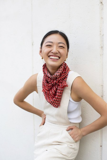 Block Shop Textiles Kiki Square Scarf - Geranium